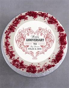 bakery: Personalised Anniversary Cake!