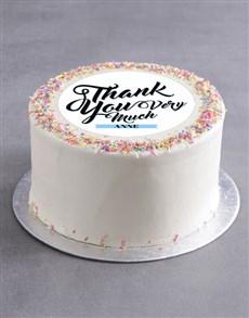 bakery: Personalised Thank You Cake!