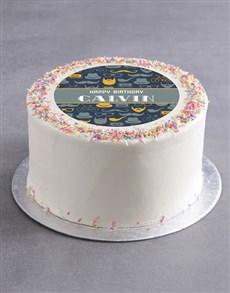 bakery: Personalised Gentleman Birthday Cake!