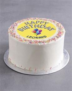 bakery: Personalised Birthday Balloons Cake!