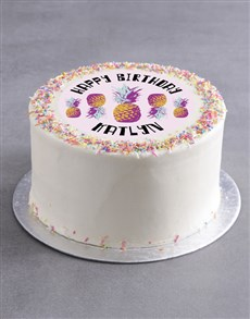 bakery: Personalised Pine Theme Birthday Cake!
