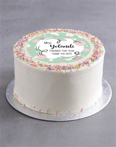 bakery: Personalised Thank You Bubbles Cake!