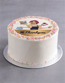 bakery: Thank You Secretarys Day Cake!