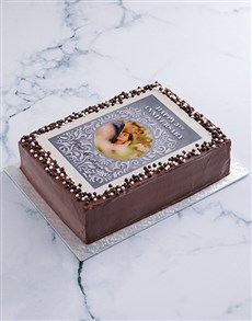 bakery: Happy Anniversary Photo Cake!