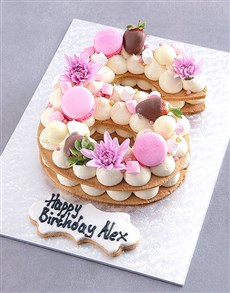 bakery: Personalised Vanilla Strawberry Cookie Cake!