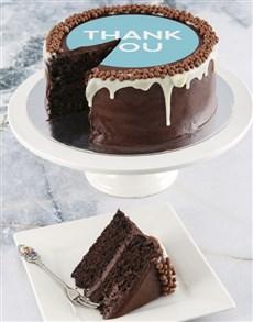 bakery: Thank You Chocolate Drip Cake !