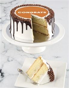 bakery: Congratulations Vanilla Drip Cake!