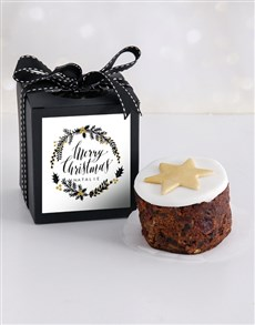 bakery: Personalised Gold Christmas Cake in a Box!