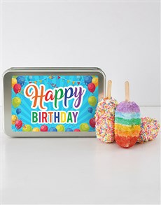 gifts: Birthday Rainbow Cakes On A Stick!