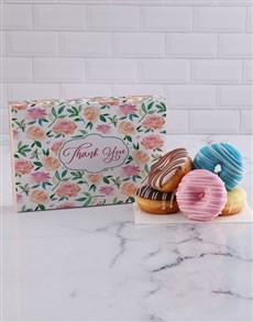 bakery: Floral Thank You Doughnut Box!