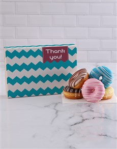 bakery: Thank You Stripy Doughnut Box!