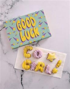 bakery: Good Luck Girl Doughnut Letters!