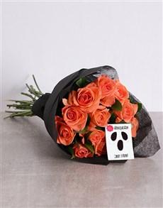 gifts: Orange Rose Halloween Bouquet!