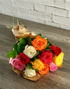 flowers: Vibrant Mixed Roses!
