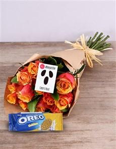 flowers: Orange Roses With Oreo Original!
