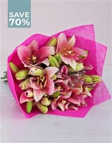 flowers: Pink Asiflorum Lilies!