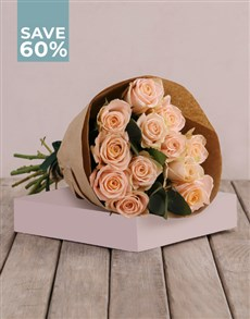 flowers: Picture Perfect Peach Rose Bouquet!