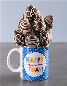 gifts: Dipped Strawberries in a Birthday Mug!