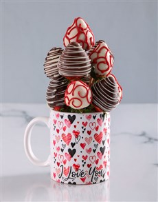 gifts: Dipped Strawberries in a Love Mug!