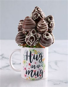gifts: Friendship Dipped Strawberries in a Mug!