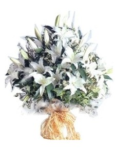 flowers: Silky White Bouquet!