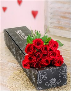 flowers: A Dozen Red Roses in a Box!