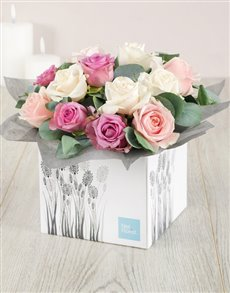 flowers: Pastel Box of Roses!