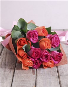 flowers: Sunset Rose Bouquet!