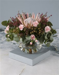 flowers: Protea And Carnation Mothers Day Arrangement!