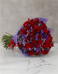 flowers: Extravagant Red Roses Mothers Day Bouquet!