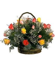 flowers: Rainbow Rose Basket!