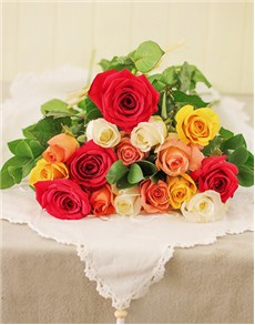 flowers: A Dozen Mixed Roses with 3 Free!