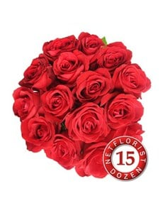 flowers: A Dozen Red Roses with 3 Free!