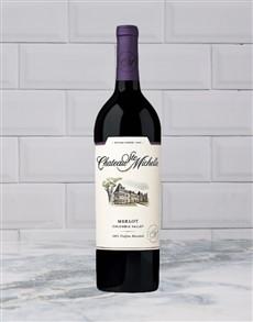 alcohol: CHATEAU STE MICHELLE MERLOT 750ML X1!
