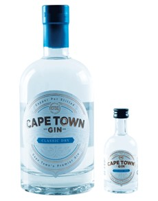 alcohol: CAPE TOWN DRY GIN CLASSIC & 50ML MINIATURE !