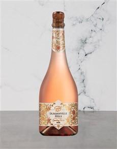 alcohol: DVILLE HILLS SPARKLING ROSE 750ML X1!