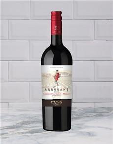 alcohol: ARROGANT FROG CABERNET MERLOT 750ML X1!