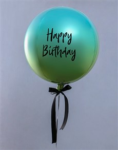 gifts: Metallic Blue And Green Ombre Balloon Gift!