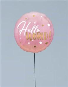 gifts: Hello World Pink Balloon Gift!