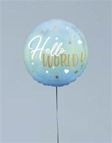 gifts: Hello World Blue Balloon Gift!