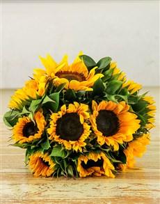 flowers: Sunflower Sunrise Bouquet!