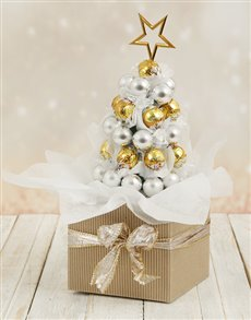 gifts: Golden Lindt Edible Christmas Tree!