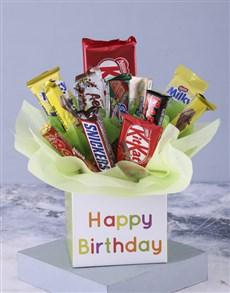 flowers: Happy Birthday Mixed Chocolate Bouquet!