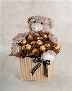 flowers: Chocolate and Hug Arrangement!