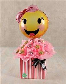 gifts: Happy Emoticon Edible Arrangement!