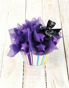 flowers: Purple Star Cupcake Arrangement!