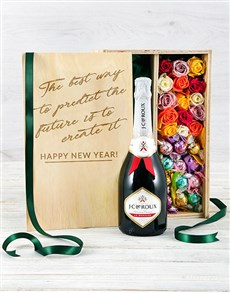 gifts: Bubbly Lindt and Rose Crate!