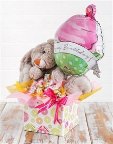 flowers: Rabbit Lindt and Birthday Balloon Box!