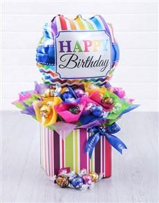 gifts: Birthday Balloon Lindt Edible Arrangement!