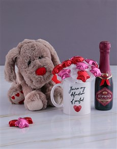 gifts: Delightful Bubbly and Teddy Bear Arrangement!